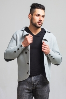 Knitted double-breasted jacket