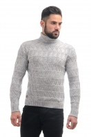Sweater with embossed pattern