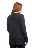 Knitted cardigan without fastener