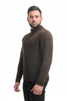 Warm sweater with a collar on a zipper