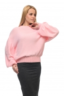 Womens sweater with volumetric sleeves