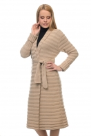 An extended cardigan coat