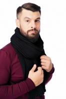Ribbed mens scarf