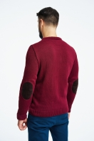 Warm jumper with elbow pads