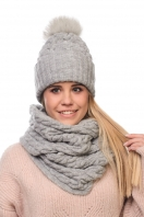 Womens cashmere set (hat + LIC)