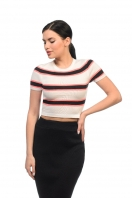 Knitted striped top