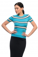 Knitted striped T-shirt