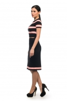 Knitted striped set T-shirt and skirt