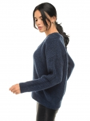 Womens sweater with a wide neckline